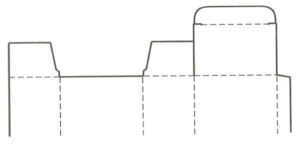 插入式摇盖包装盒设计展开图       锁口式:这种包装设计结构
