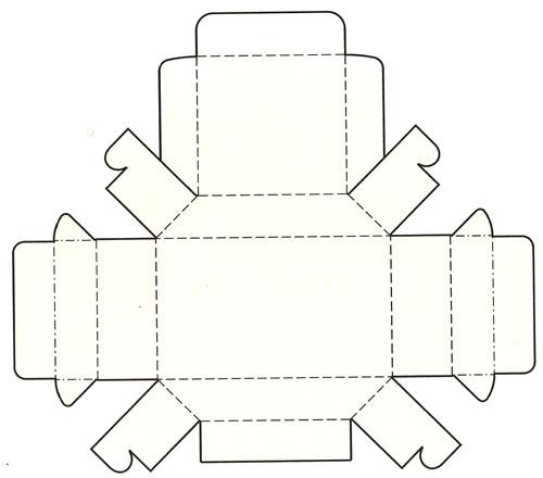梯形带盖盘式结构盒模切展开图